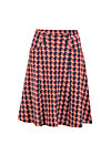 Circle Skirt gar so gern, pied-de-poule red, Skirts, Red
