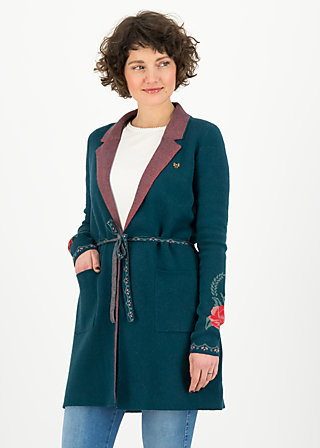 Strickjacke gone with the mind, frozen roses, Cardigans & leichte Jacken, Blau