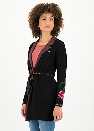 Strickjacke gone with the mind, midnight roses, Cardigans & Strickjacken & Blazer, Schwarz