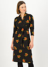 Shift Dress herz und keule, forest flower, Black