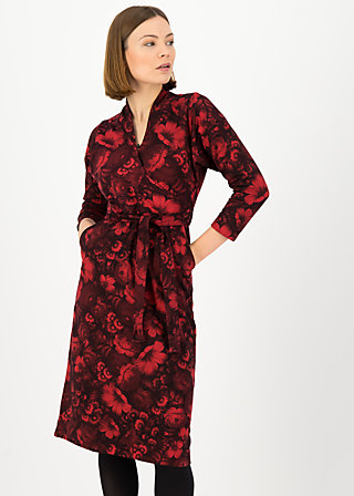 Shift Dress herz und keule, hidden garden flowers, Red