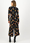 Jumpsuit holy glamour, berrie birds, Black