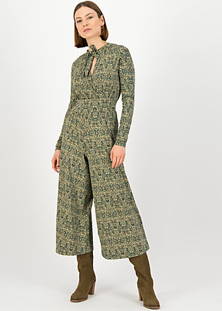 Jumpsuit holy glamour, pattern poetry, Green