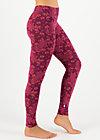Cotton Leggings leichte laune, proud pheasant, Leggings, Purple