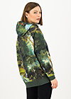 Hoodie matrioschkas armour, forest of dreams, Green