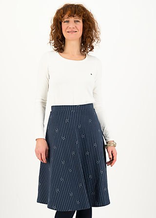 Circle Skirt office shocker, stripe tease, Skirts, Blue