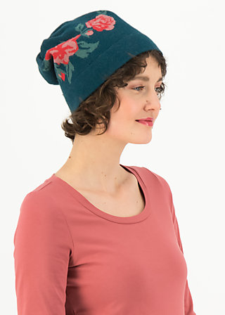 Wool Hat rosewood, frozen roses, Accessoires, Blue