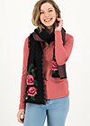 Knitted Scarf rosewood tales, midnight roses, Accessoires, Black