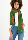 Knitted Scarf rosewood tales, tempting roses, Accessoires, Green