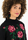 Knitted Jumper rosewood tales, midnight roses, Jumpers & Sweaters, Black