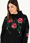 Strickpullover rosewood tales, midnight roses, Pullover & Sweatshirts, Schwarz