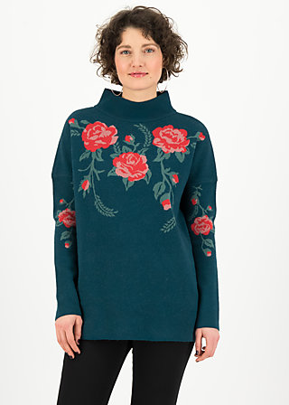 Knitted Jumper rosewood tales, frozen roses, Jumpers & Sweaters, Blue