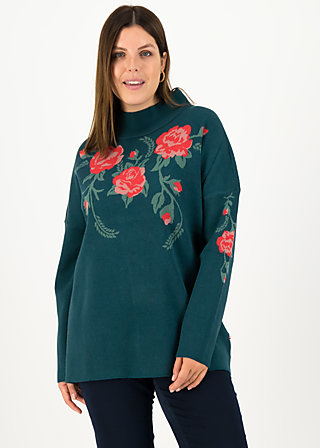 Strickpullover rosewood tales, frozen roses, Pullover & Sweatshirts, Blau