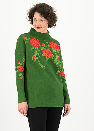 Knitted Jumper rosewood tales, tempting roses, Jumpers & Sweaters, Green