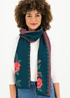 Knitted Scarf rosewood tales, frozen roses, Accessoires, Blue