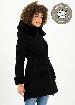Wintercoat trot the fox, vamp in velvet, Jackets & Coats, Black