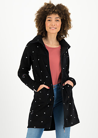 Fleece Jacket winter wonder turtle, mellow cat, Jackets & Coats, Black