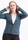 directrice de cirque vest, stripes of rights, Blazer, Schwarz