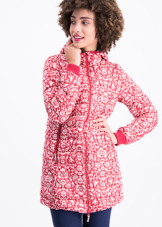 leichte laune longjacket, folk flower, Jackets & Coats, Red