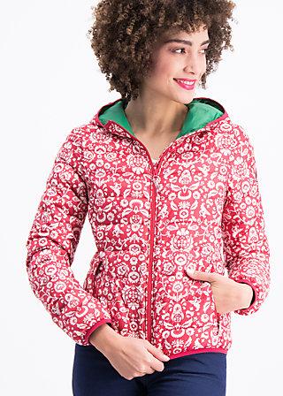 luft und liebe jacket, folk flower, Lightdown, Rot