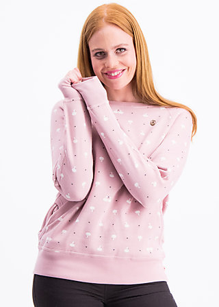 oh l'amour sweat, loving swans, Pullover & Hoodies, Rosa