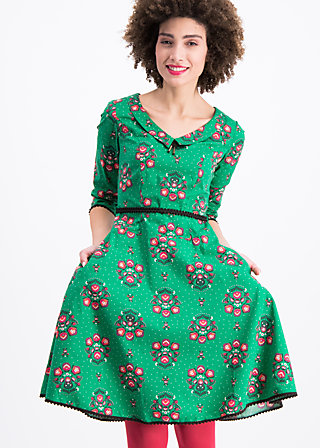 so long lonelyness dress, fancy folk flower, Webkleider, Grün