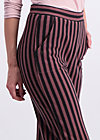 streifenprüfung pantalons, stripes of revolution, Stoffhosen, Braun