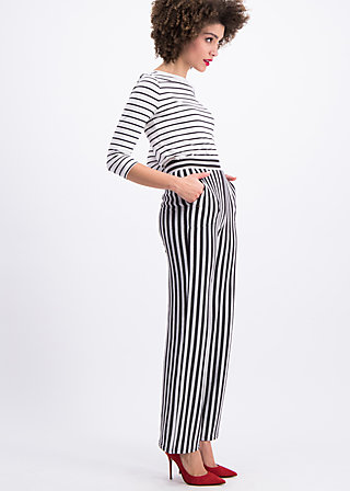 streifenprüfung pantalons, stripes of harmony, Trousers, Black