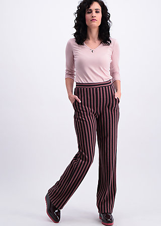 streifenprüfung pantalons, stripes of revolution, Cloth pants, Braun