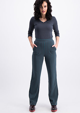 streifenprüfung pantalons, stripes of rights, Trousers, Black