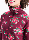 strong girl next door longzip, flower for babushka, Jumpers & lightweight Jackets, Red