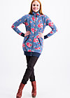 strong girl next door longzip, flower for circus, Pullover & leichte Jacken, Blau