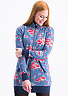 strong girl next door longzip, flower for circus, Zipperjacken, Blau