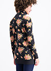 strong girl next door longzip, flower for power, Jumpers & lightweight Jackets, Black
