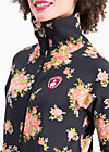 strong girl next door longzip, flower for power, Zipperjacken, Schwarz