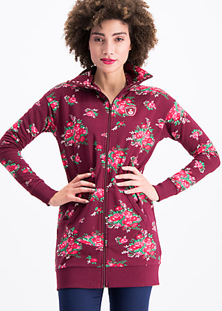 strong girl next door longzip, flower for babushka, Jumpers & lightweight Jackets, Rot