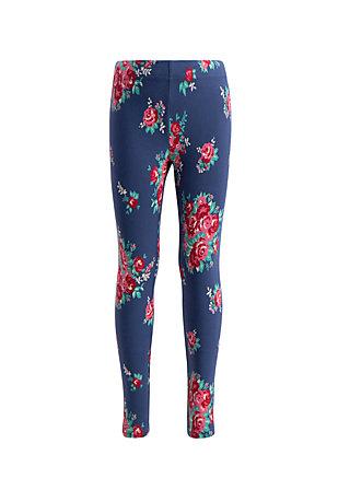 tausendschön legs, flower for circus, Leggings, Blue