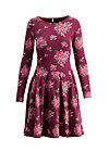 true romance robe , flower for babushka, Jerseykleider, Rot