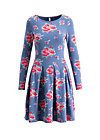 true romance robe , flower for circus, Jersey Dresses, Blau
