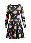 true romance robe , flower for power, Jerseykleider, Schwarz