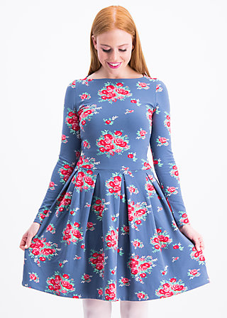 true romance robe , flower for circus, Jerseykleider, Blau