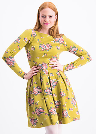 true romance robe , flower for women, Jersey Dresses, Gelb