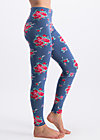 walking on flowers legs, flower for circus, Leggings, Blau