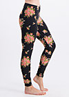 walking on flowers legs, flower for power, Leggings, Schwarz