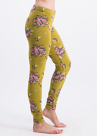 walking on flowers legs, flower for women, Leggings, Yellow