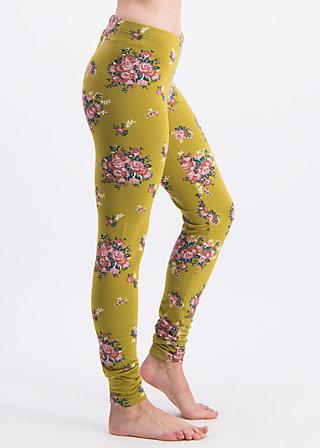 walking on flowers legs, flower for women, Leggings, Gelb