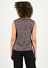 flaming heart blousetop, mille fleur, Shirts, Black