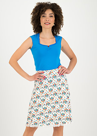 secret showgirl skirt, flower power, Skirts, White