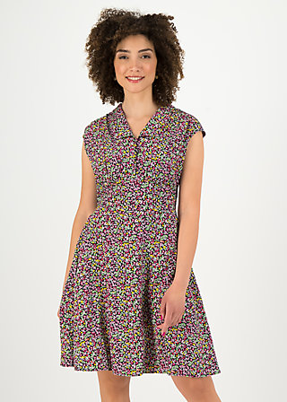 spatz von paris robe, mille fleur, Kleider, Schwarz