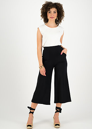 super cozy culotte, black summer, Trousers, Black